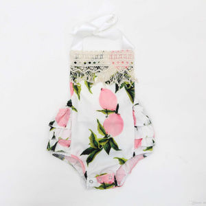 Other - Baby Girl Halter Romper With Headband.